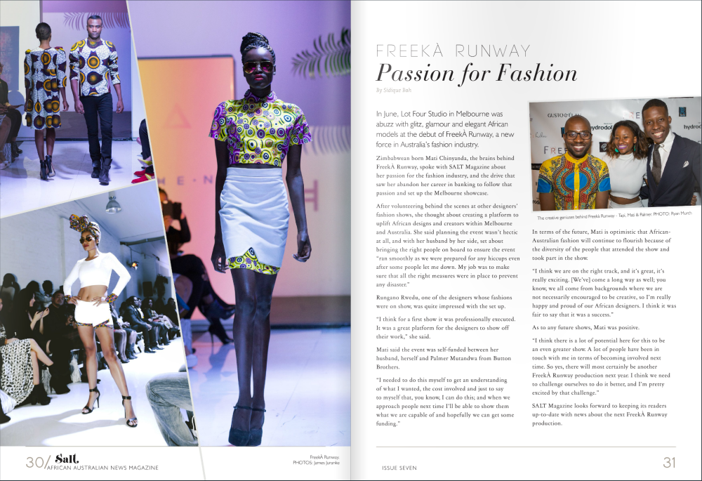 Freeka, salt magazine, lentendre, button brothers, freeka runway